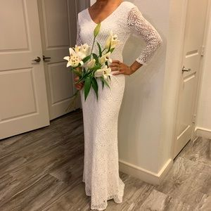 Wedding or Evening Off White sequence Gown